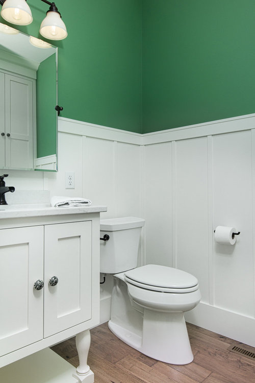 Using a bright shade of paint in the bathroom in Moorhead, MN.