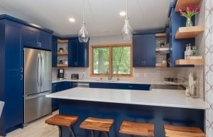 Painted cabinet ideas in Fargo, ND: Bold pop of color